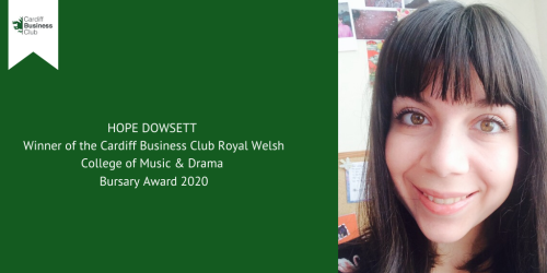 Annual bursary award winner for the Royal Welsh College of Music & Drama announced